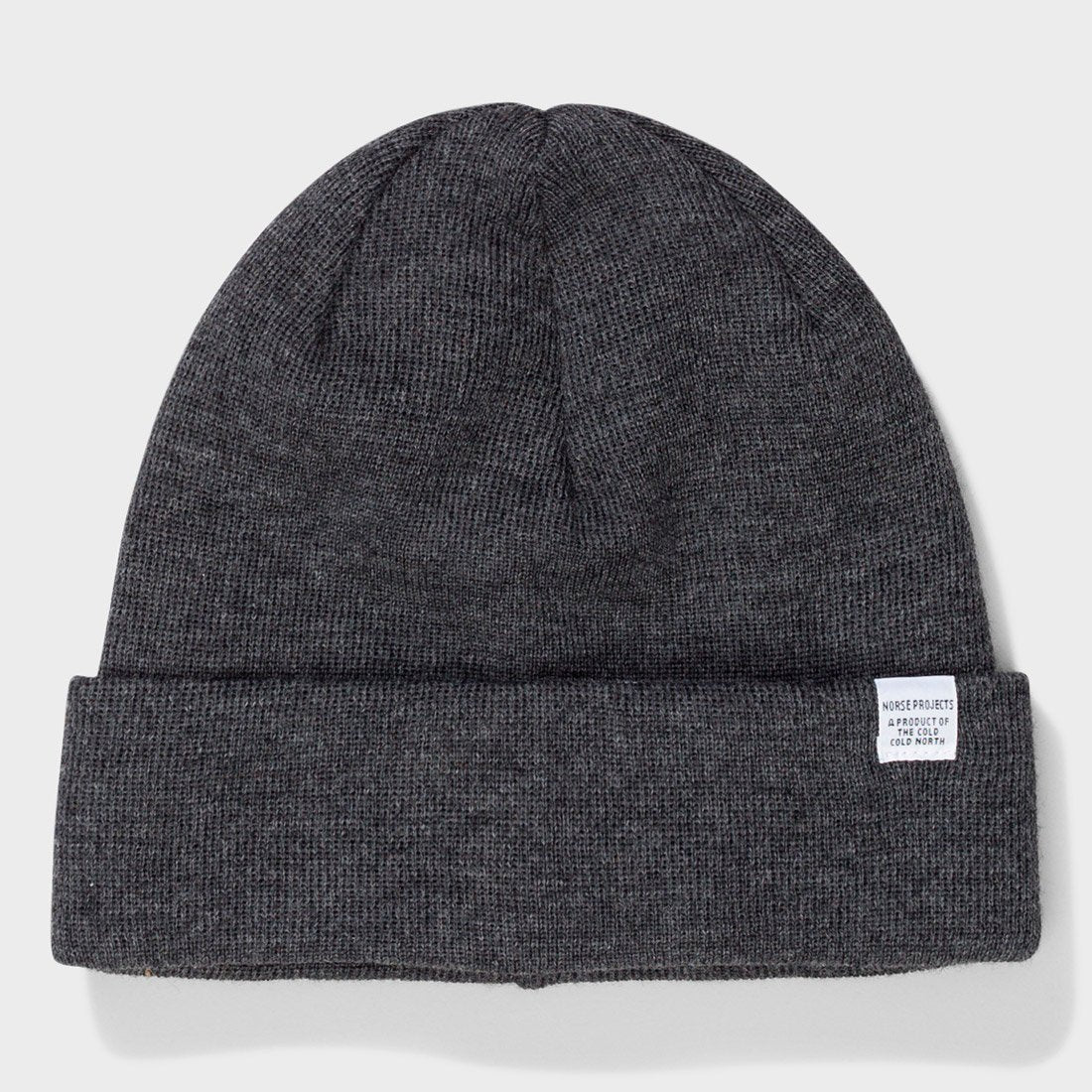 Norse Projects Top Beanie Charcoal Melange