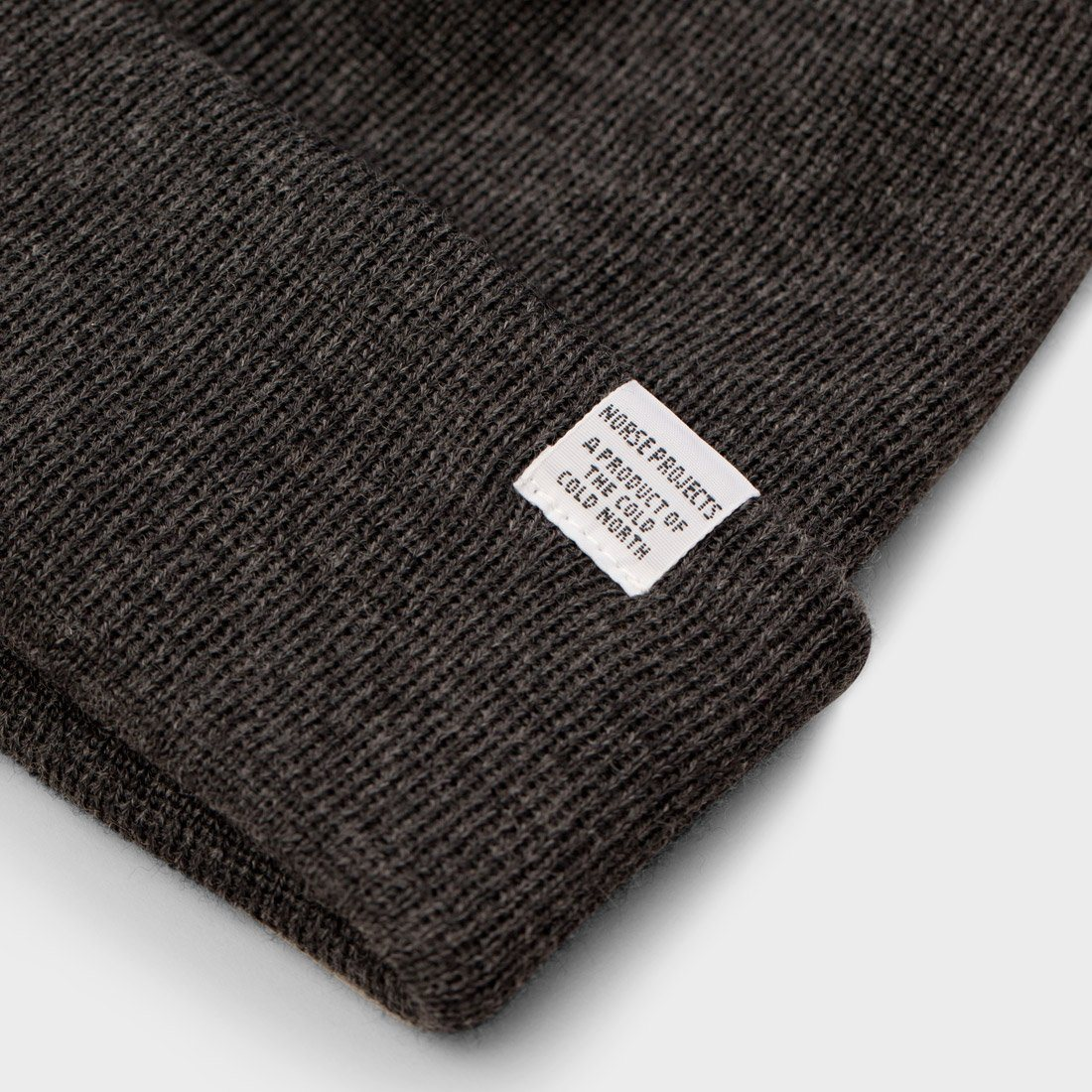 41aee685240 ... product  Norse Projects Top Beanie Charcoal Melange