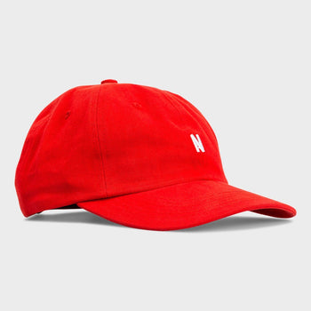 product: Norse Projects Twill Sports Cap Askja Red
