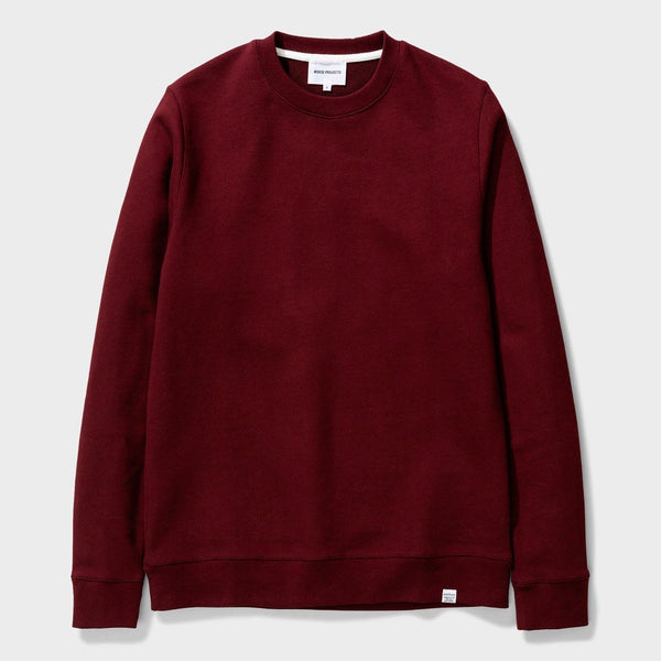 product: Norse Projects Vagn Classic Crew Mulberry Red