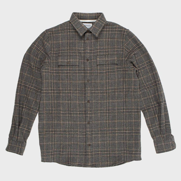 product: Norse Projects Villads Heavy Brushed Check Titanium