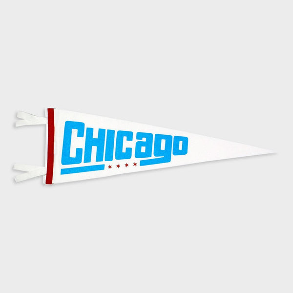 product: Oxford Pennant Chicago, IL Pennant White