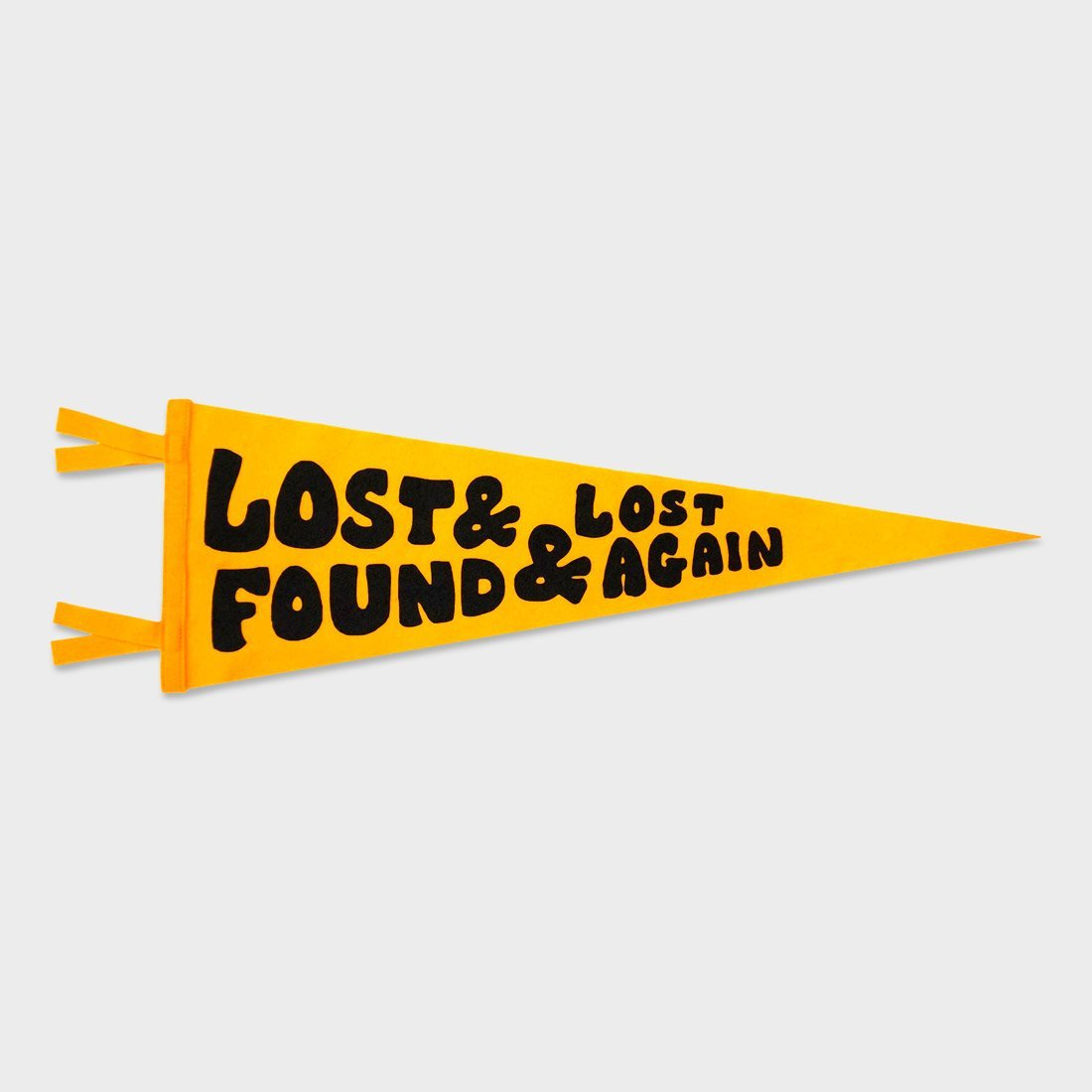 Oxford Pennant Lost and Found and Lost Again Pennant Chrome Yellow
