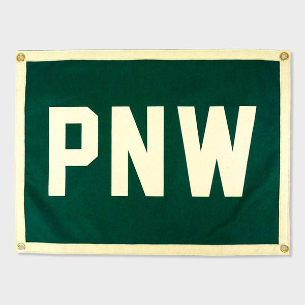 product: Oxford Pennant PNW Camp Flag Green