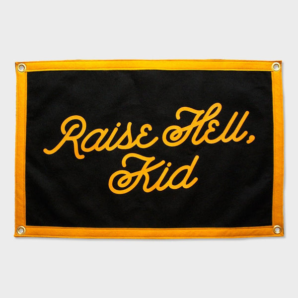 product: Oxford Pennant Raise Hell Kid Camp Flag