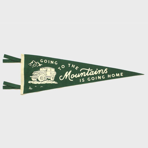 product: Oxford Pennant Going To The Mountains Is Going Home
