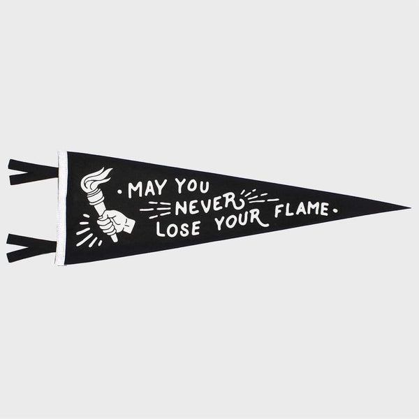 product: Oxford Pennant May You Never Lose Your Flame