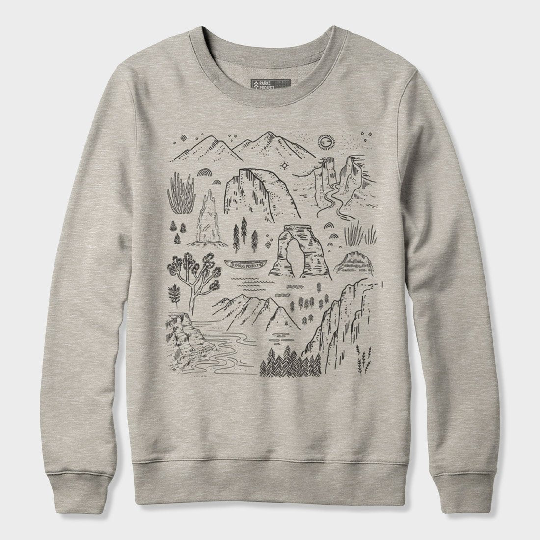 Parks Project Iconic NP's Crew Sweatshirt Heather Oatmeal