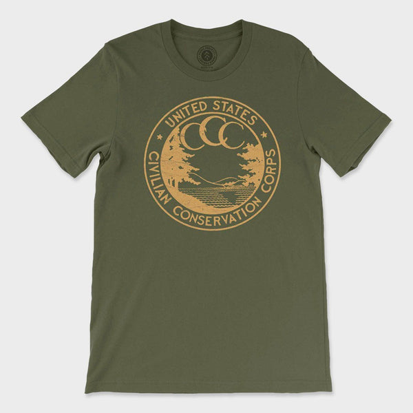 product: Parks Project Conservation Corps Vintage Logo T-Shirt Green