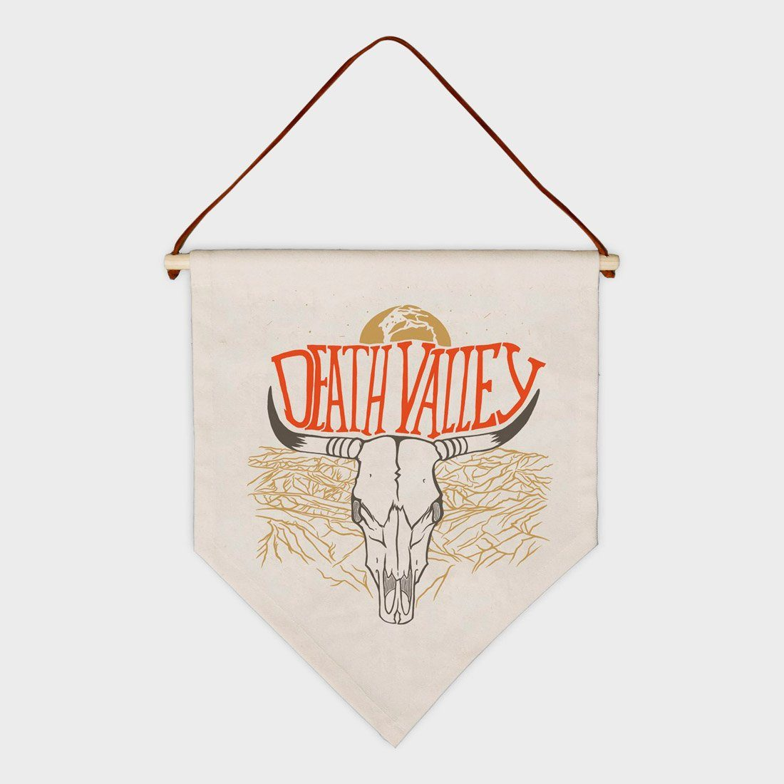 Parks Project Death Valley Bull Skull Pennant