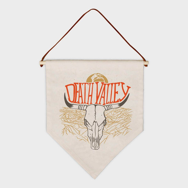 product: Parks Project Death Valley Bull Skull Pennant