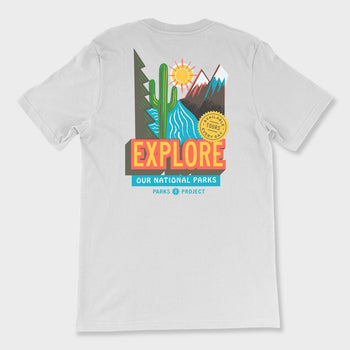 product: Parks Project Explore National Parks T-Shirt White