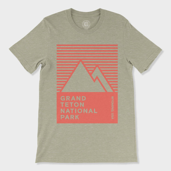 product: Parks Project Grand Teton 1992 Tee Heather Stone