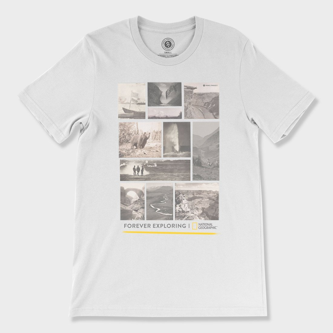 Parks Project Nat Geo Cover Collage T-Shirt White