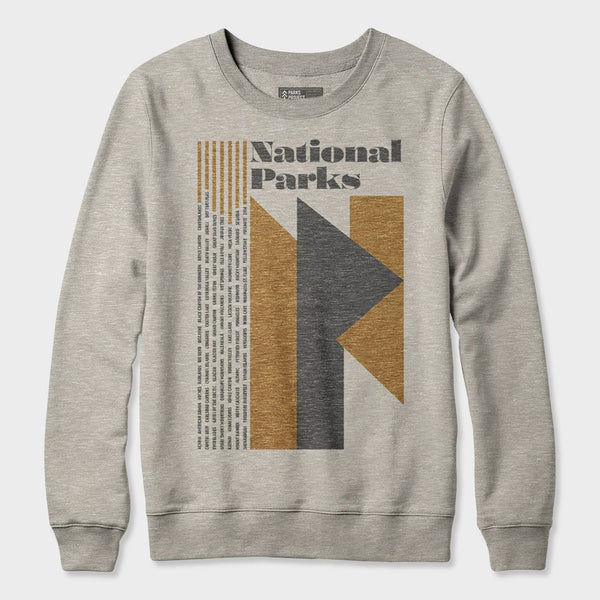 product: Parks Project NP All Parks Crewneck Fleece Heather Oatmeal