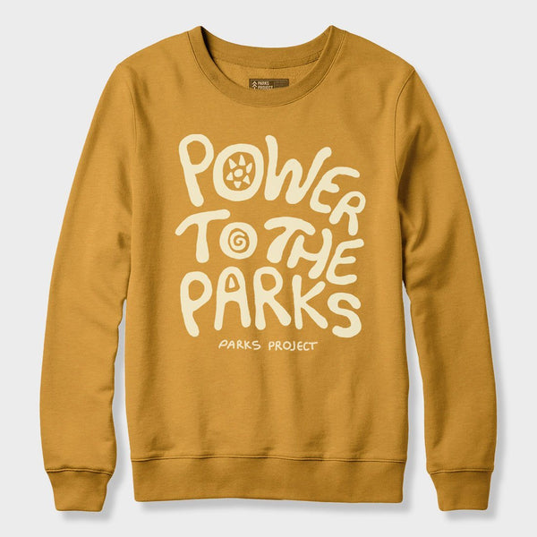 product: Parks Project Power to the Parks Crewneck Heather Mustard
