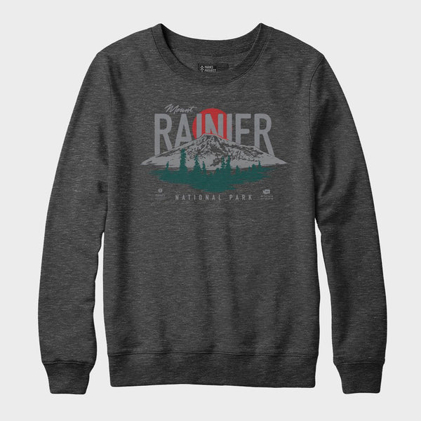 product: Parks Project Rainier Crew Neck Fleece Heather Black