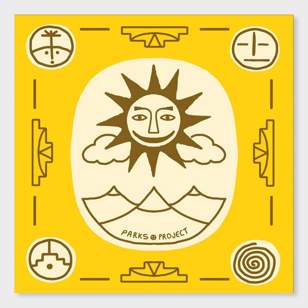 product: Parks Project Sun Rug Bandana Yellow