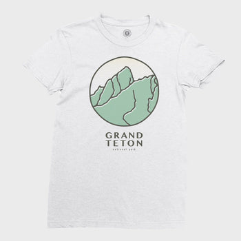 product: Parks Project Grand Teton Retro Women's T-shirt Smoke