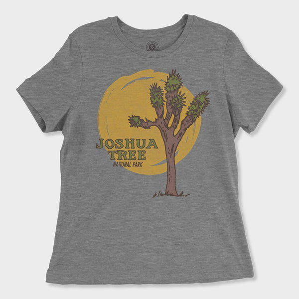 product: Parks Project Women's Joshua Tree Yes Please Tee Heather Grey