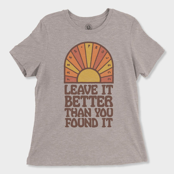 product: Parks Project Women's Leave It Better Sunrise Tee Heather Stone