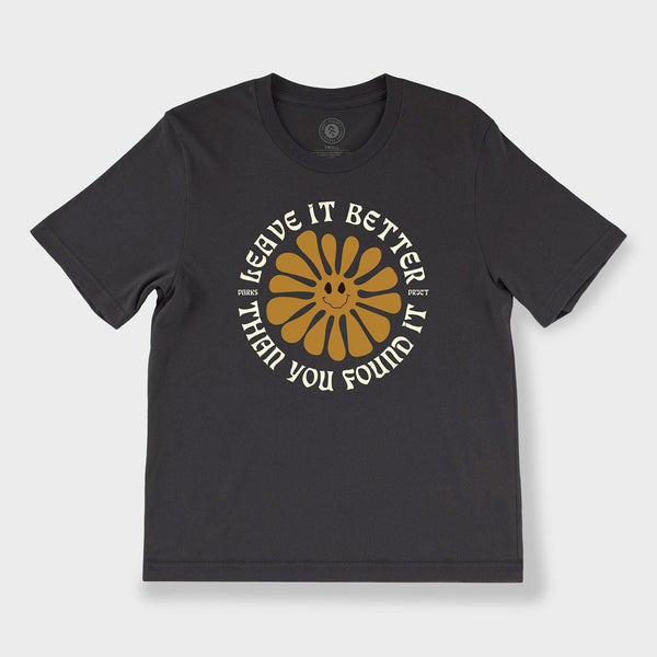 product: Parks Project Women's Leave it Better Smilin' Sun T-Shirt Vintage Black