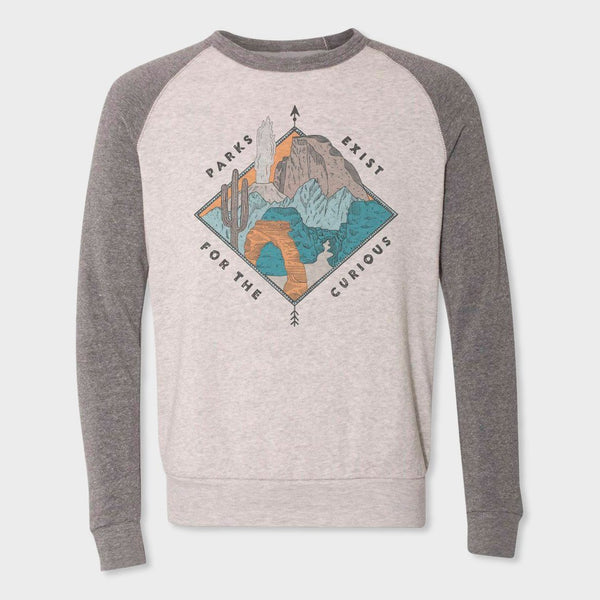 product: Parks Project Women's Parks For the Curious Fleece Oatmeal/ Grey