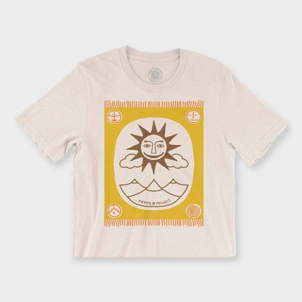 product: Parks Project Women's Sun Rug Boxy T-Shirt White