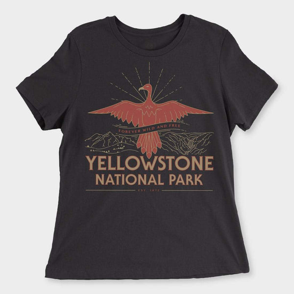 product: Parks Project Women's Yellowstone Firebird Women's Tee Black