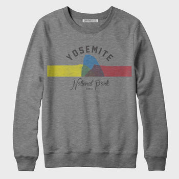 product: Parks Project Yosemite Color Block Crew Sweatshirt Heather Grey