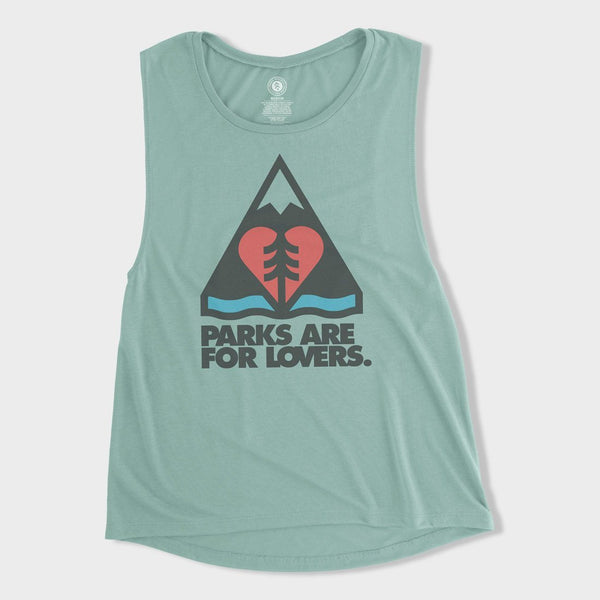 product: Parks Project Women's Lovers Over Yonder Tank Dusty Blue
