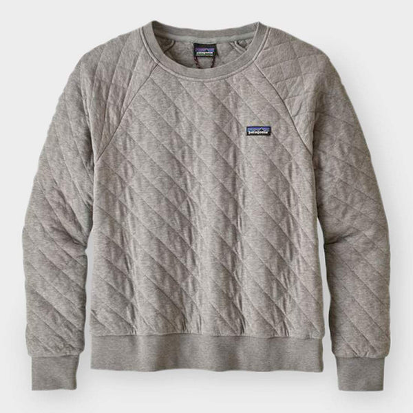 product: Patagonia Women's Organic Cotton Quilt Crew Grey