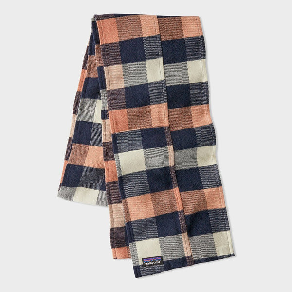 product: Patagonia Fjord Flannel Patchwork Scarf Upriver Century Pink
