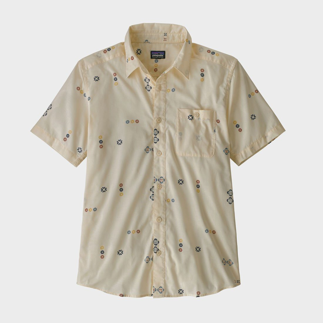 Patagonia Go To Shirt Palms of My Heart Dyno White