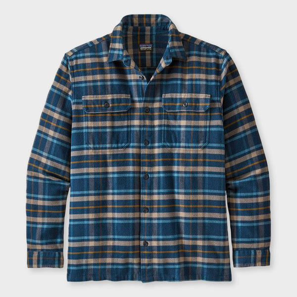 product: Patagonia Fjord Flannel Independence New Navy