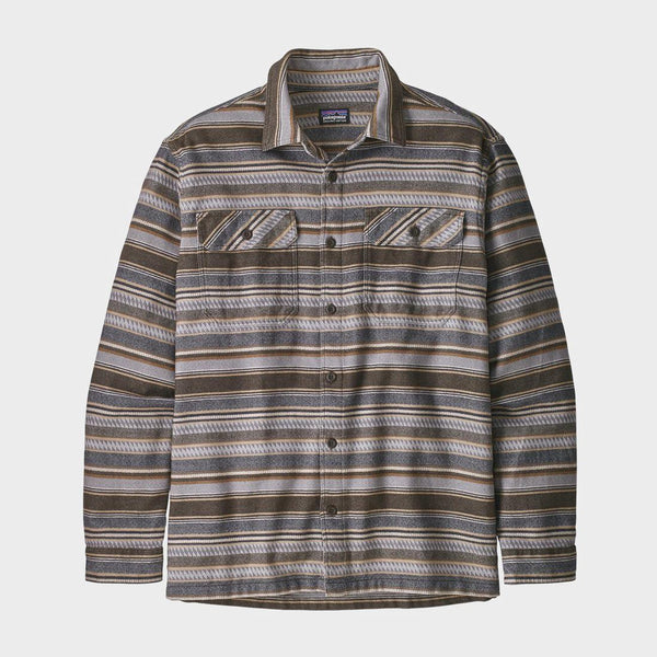 product: Patagonia Fjord Flannel Shirt Folk Dobby Bristle Brown