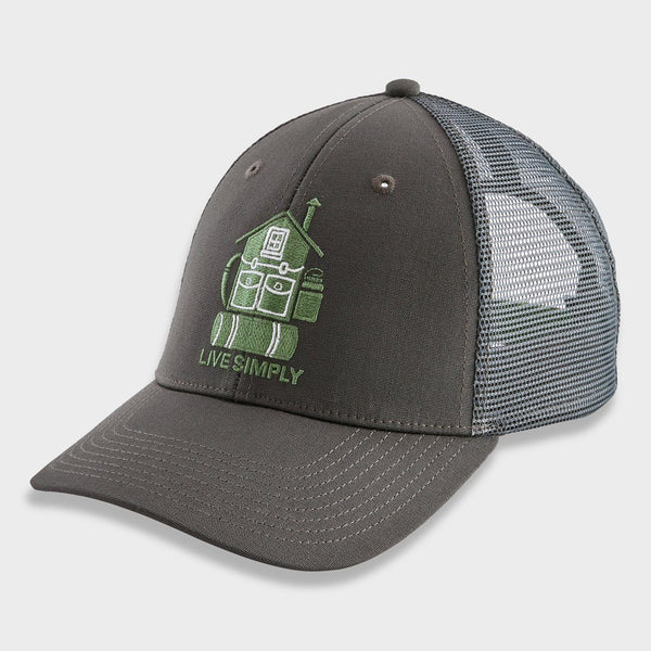 product: Patagonia Live Simple Home LoPro Trucker Hat Forge Grey
