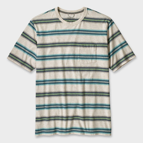 product: Patagonia Squeaky Clean Pocket T-Shirt Tarkine Stripe Pelican