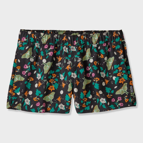 "product: Patagonia Women's Barely Baggies Shorts 2 1/2"" Night Pollinators Black"