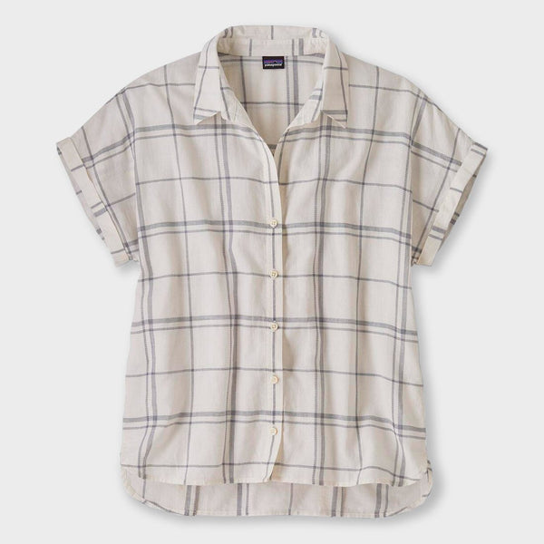 product: Patagonia Women's Lightweight A/C Shirt Harvest Windowpane White Wash