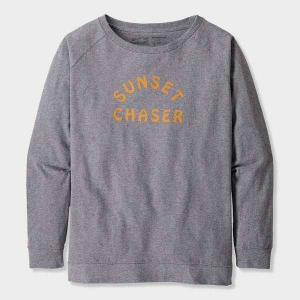 product: Patagonia Women's Camp I.D Responsibili-tee Gravel Heather w/ Sunset Chaser