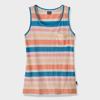 product: Patagonia Women's Mainstay Tank Water Ribbons Port Blue
