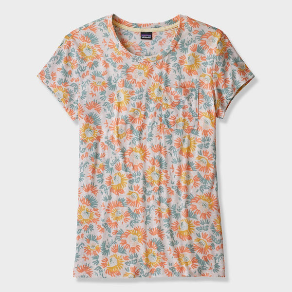product: Patagonia Women's Mainstay T-Shirt Aurea Blooms Raw Linen