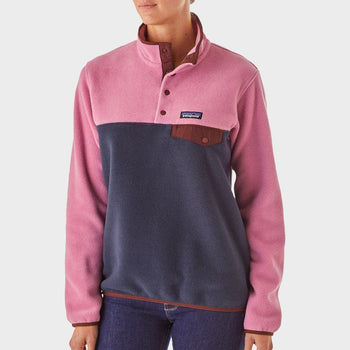 product: Patagonia Women's Synchilla Snap-T Fleece Pelican with Stone Blue