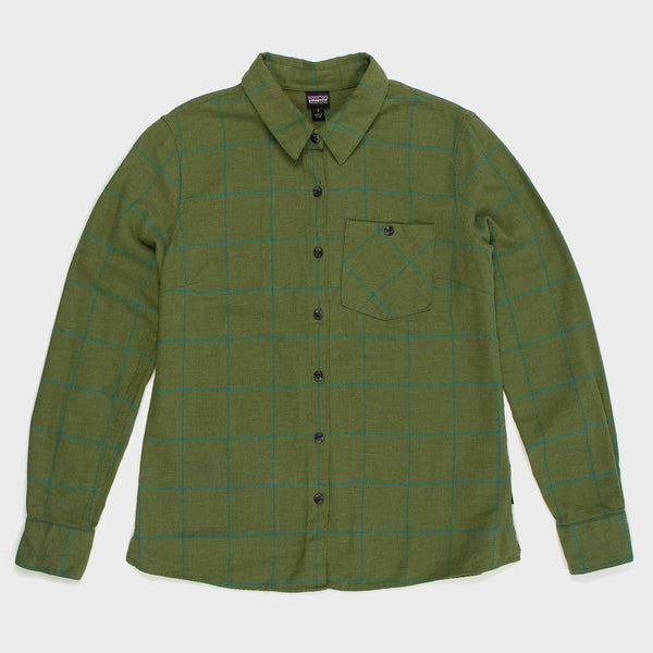 product: Patagonia W's Heywood Flannel Shirt Crafted Plaid/Buffalo Green