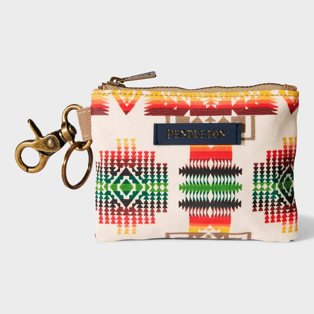 Pendleton Canopy Canvas ID Pouch Key Ring Chief Joseph