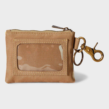 product: Pendleton Canopy Canvas ID Pouch Key Ring Chief Joseph
