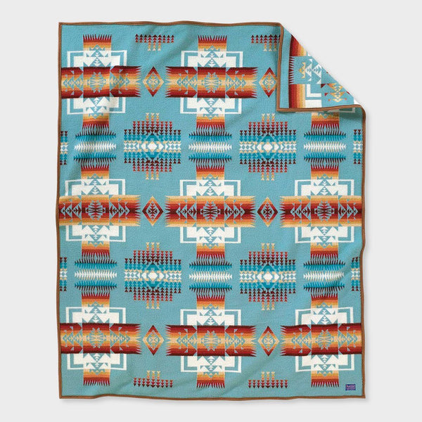 product: Pendleton Chief Joseph Collection Blanket Aqua