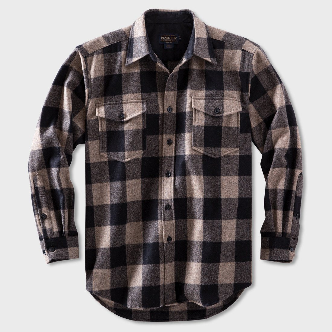 Pendleton Guide Shirt Taupe/Black Buffalo