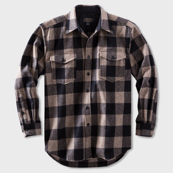 product: Pendleton Guide Shirt Taupe/Black Buffalo